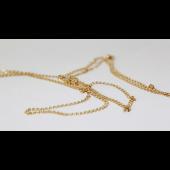 Цепь Love Лав сердечки с алмазной огранкой 2-х сторон, жёлтое золото 2мм