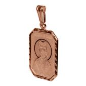 Дмитрий Святой князь в прямоугольном окладе с алмазной огранкой, красное золото