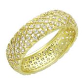Кольцо, желтое золото 750 проба, бриллианты, решетка 6мм