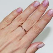 Кольцо Викс сердечки с бриллиантами, с подвеской Сердце с бриллиантом, красное и белое золото
