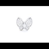 Подвеска Бабочка с фианитами, серебро