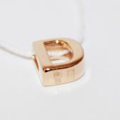 Кулон Викс буква Д, латинская D, красное золото
