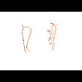 Серьги-каффы Стрекозы без вставок, красное золото