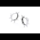 Серьги Конго с шипами, серебро