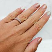 Кольцо Дорожка помолвочное с бриллиантами, белое золото
