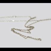 Цепь Якорная с хвостиком, белое золото 1мм
