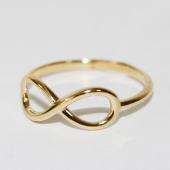 Кольцо Бесконечность без вставок гладкое, желтое золото