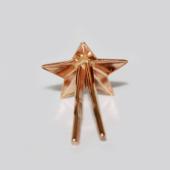 Звезда на погоны лейтенантская, красное золото (лейтенант, старший лейтенант, капитан) 13мм