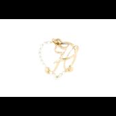 Подвеска буква Н в сердце с фианитами, красное золото