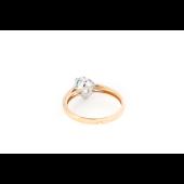 Кольцо с топазом из красного золота
