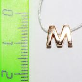 Кулон Викс буква М, латинская M, красное золото