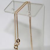 Цепь Панцирная с алмазной огранкой 2-х сторон, жёлтое золото 1мм