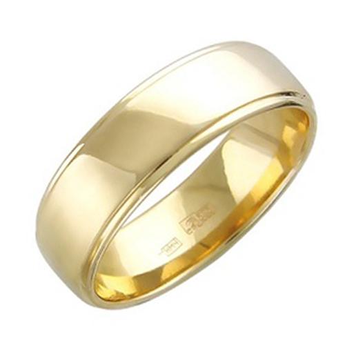 Обручальное кольцо желтое золото 4dd7c6e1bed9b