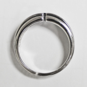 Мужское кольцо матированное, монолитное с прорезью и квадратным бриллиантом, белое золото 585 проба