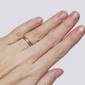 Кольцо обручальное Спаси и Сохрани, золотые буквы, красное золото 585 проба 4.5мм