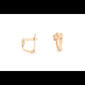 Серьги детские Цветик-Семицветик с цветной эмалью и фианитом, красное золото
