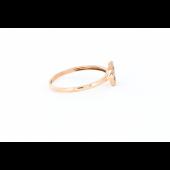 Кольцо с бриллиантами и сапфирами, красное золото