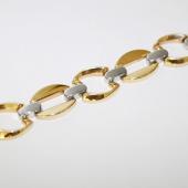 Браслет Ролекс, желтое и белое золото 13мм