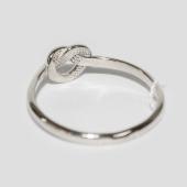 Кольцо Сердечко, бесконечная любовь, белое золото