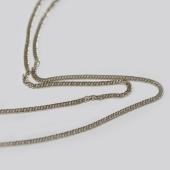 Цепь Двойная панцирная с алмазной огранкой 2-х сторон, белое золото 585 проба 1мм