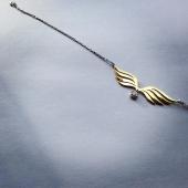 Браслет Крылья Ангела с фианитами и удлинителем, серебро