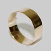 Обручальное кольцо широкое 8 mm, желтое золото 585 пробы