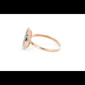 Кольцо Колибри с бриллиантами и сапфиром, красное золото