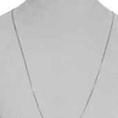 Цепь Якорная с хвостиком, белое золото 1.1мм