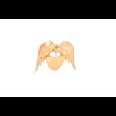 Кулон Сердце с крыльями ангела, красное золото