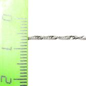 Браслет плетение Сингапур, белое золото, 1.1 мм