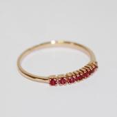 Кольцо Дорожка с рубинами, красное золото