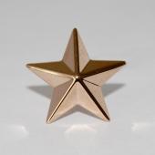 Звезда на погоны майорская, красное золото (майор, подполковник, полковник) 20мм