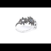 Кольцо Ромашки с топазами и фианитами, серебро