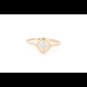 Кольцо Ромб с бриллиантами, красное золото