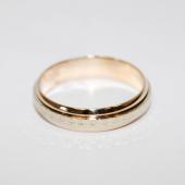 219fe7a83ac8 ... Кольцо обручальное с вставкой из белого золота (в виде обруча) ширина  шинки 4.0мм