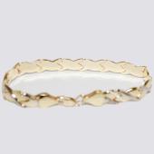 Браслет Ролекс, крупная буква Икс, алмазная огранка, родирование, желтое золото 8мм