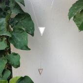Колье Dream Этно с двумя треугольными перламутрами и фианитами, серебро