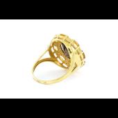 Кольцо с раухтопазом и цитринами, серебро