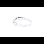 Кольцо Бесконечность с бриллиантами, белое золото