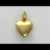Кулон Сердце литое, желтое золото, 585 пробы