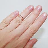 Кольцо Корона с фианитом, красное золото