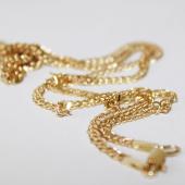 Цепь Двойной ромб, жёлтое золото 585 проба 3мм