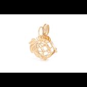 Кулон Золотая Рыбка с секретом (открывающийся), красное золото