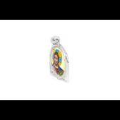 Икона Спас Вседержитель с фианитами и цветной эмалью, серебро